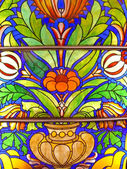 Old stained-glass window — Stock Photo
