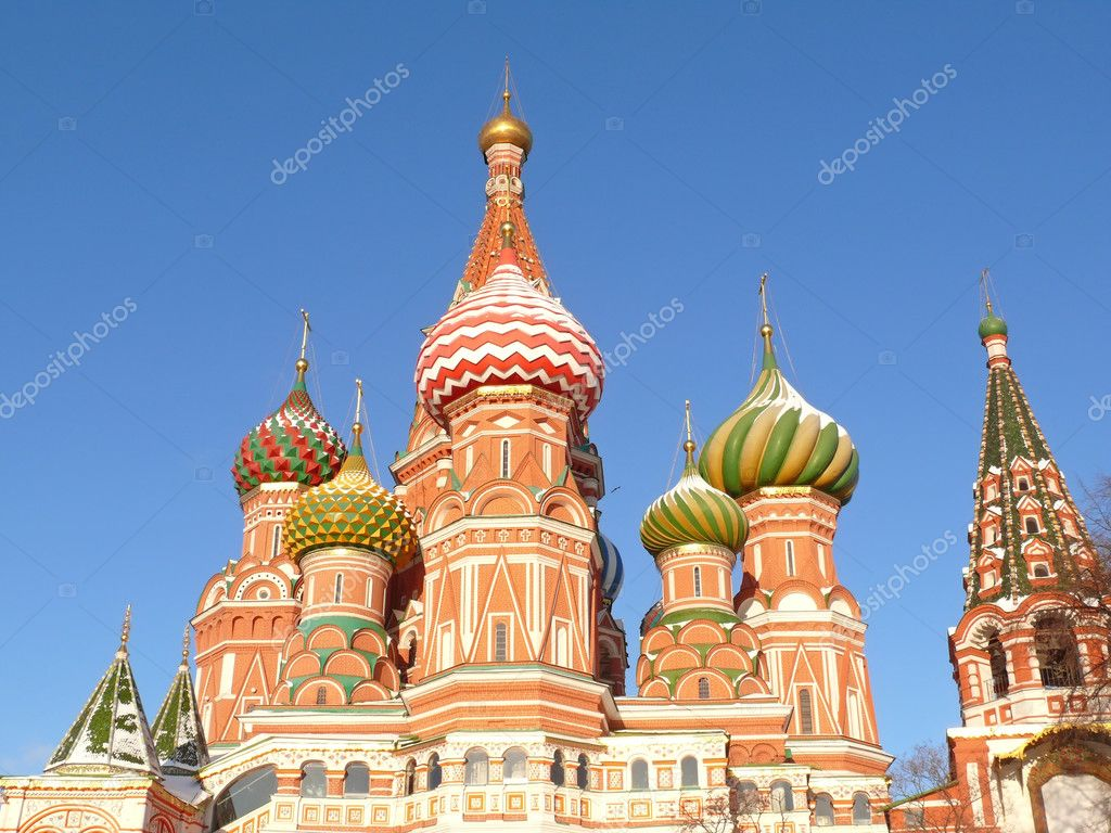 St. Basil's cathedral in Moscow, Russia — Stock Photo #2168283
