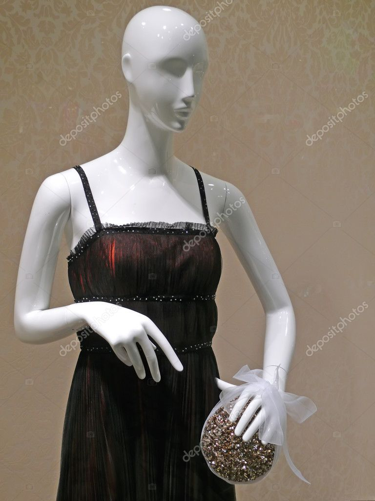 Stylish mannequin in black dress — Stock Photo #2169250