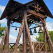 Old wooden bell tower — Stock Photo