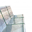 Comfortable metallic bench — Stock Photo