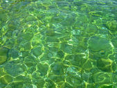 Clear green sea water — Stock Photo
