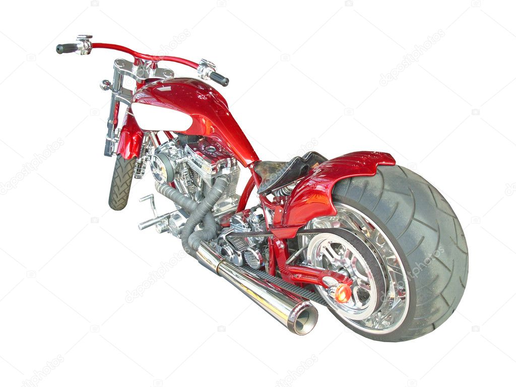 Expensive red motorcycle — Stock Photo #2207084