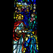 Religious Stained Glass Window — Stock Photo