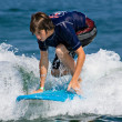 Teenage Boy Surfing - Stock Photo