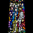 Religious Stained Glass Window — Foto Stock