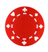 Red Poker Chip — Stock Photo