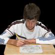 Boy Drawing Picture — Stock Photo #2128712