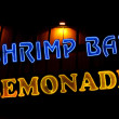 Shrimp Bar and Lemonade Neon Sign — Stock Photo #2138819