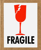 Fragile Label — Stock Photo