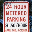 Metered Parking Sign — Stock Photo
