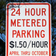 Metered Parking Sign — Stock Photo #2247691