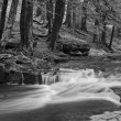 Little Falls in Black and White - Stock Photo