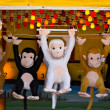 Prize Monkeys — Stock Photo
