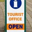 Tourist Office Information Sign - Stock Photo