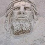 Face of Jesus Sand Sculpture — Stock Photo #2262009