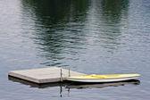 Docked Boat on Lake — Stock Photo