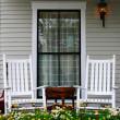 Stock Photo: Porch and Chairs