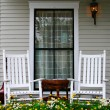 Porch and Chairs - Stock Photo