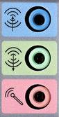 Ses kartı giriş ve çıkış bağlantı noktaları — Stok fotoğraf