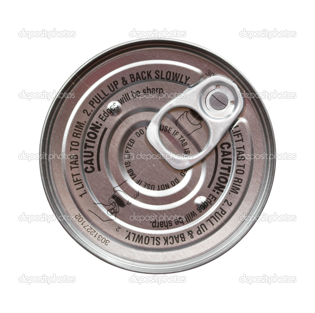 A round pull top lid on an aluminum can isolated over a white background — Stock Photo #2546497