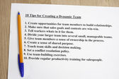 10 tips for creating a dynamic team — Stock Photo