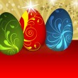 Easter egg illustration — Stock Photo