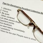 Tips for developing listening skills — Stock Photo