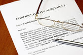 Confidentiality agreement — Stock Photo