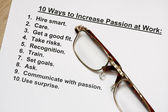 Ten ways to increase passion at work — Stock Photo