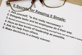 Six secret for keeping simple — Stock Photo