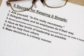 шесть секрет для простыми — Стоковое фото
