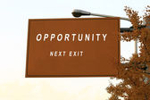 Opportunity sign — Stock Photo
