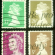 Four Queen Elizabeth Stamps — Stock Photo