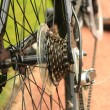 Stock Photo: Sprocket of bicycle