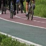 Bicycle lane — Stock Photo