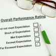 Overall Performance Rating — Stock Photo