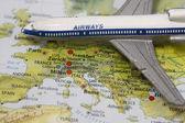 Flight to Europe — Stock Photo