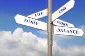 Life, Work and Balance — Stock Photo