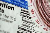 Meetlint naast voeding feiten, — Stockfoto