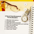 Eight tips for time management — 图库照片