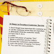 Ten steps to excellent customer service — ストック写真