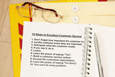 Ten steps to excellent customer service — Stock Photo