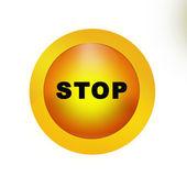 ícone de botão de paragem — Fotografia Stock