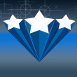 Blue Star Background — Stok fotoğraf