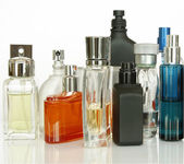 Perfume and Fragrances bottles — Stock Photo