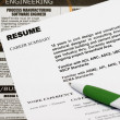 Stock Photo: Resume