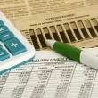 Foto de Stock  : Spreadsheet