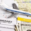 Flight itinerary — Stock Photo