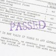 Stock Photo: Passed board examination